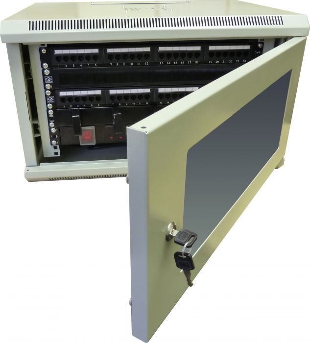6u 450mm grey data cabinetnetwork rack