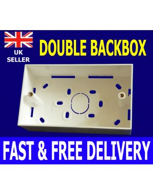 32mm Double Gang RJ45 Cat5e Cat6 Backbox Back Box Wall Mount Network