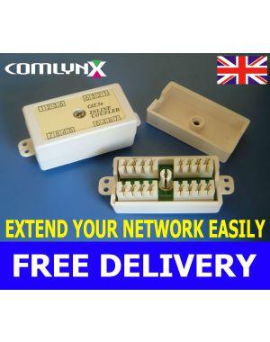Cat5e Inline Punchdown IDC Coupler Junction Box