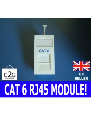 CAT6 UTP RJ45 Low Profile 25x50mm Euro Network Module