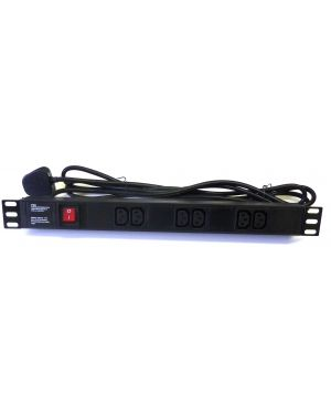 6 Way IEC PDU Horizontal Mains Unit Rack Mount Power Unit Strip 13A