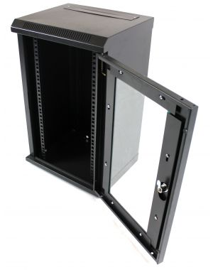 "12U 10"" Black 300MM Data Cabinet/Network Rack"