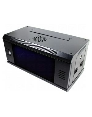 "P Series 19"" 6U 300mm Black Data Cabinet / Network Rack"