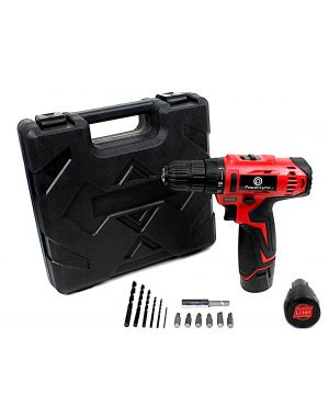 TWIN BATTERY Dual Speed 12V Cordless Compact Drill Electric LI-ION Rechargeable