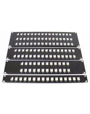 "32 Port / Way Keystone RJ45 Patch Panel Frame 1U for 19"" Network Rack"