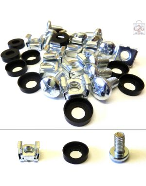 M6 Cage Nuts, Bolts & Washers (10-100 Per Pack)