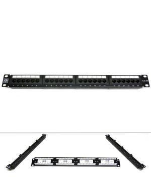 "19"" 24 Port Category 5e Patch Panel"