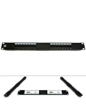 "19"" 16 Port Category 6 Patch Panel"
