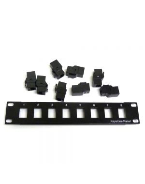 10 inch 8 Port Plug 'n' Play Patch Panel